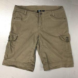 Kuhl Beige Hiking Travel Cargo Shorts Sz 12